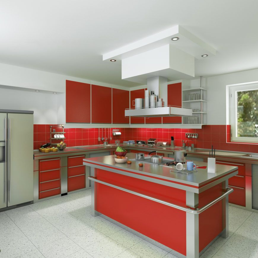 36 Kitchens With Red Cabinets Home Stratosphere