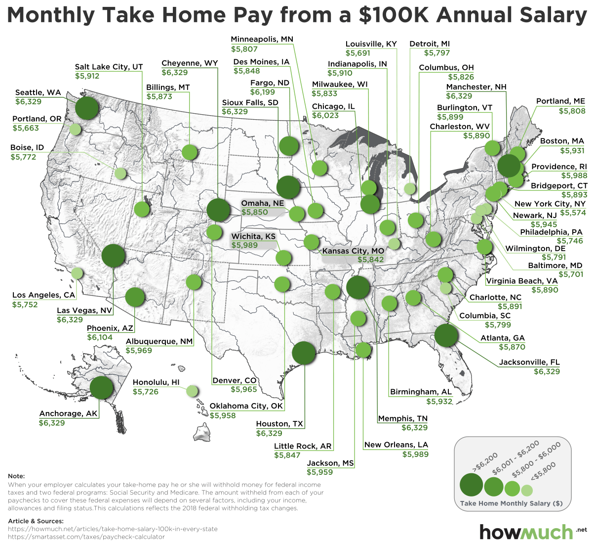 How Much You Must Earn To Afford A House In The 50 Largest U S Cities Map Personal Financial Planning City