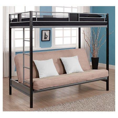 Silver Screen Twin Futon Bunk Bed Black Silver Dorel Home Products