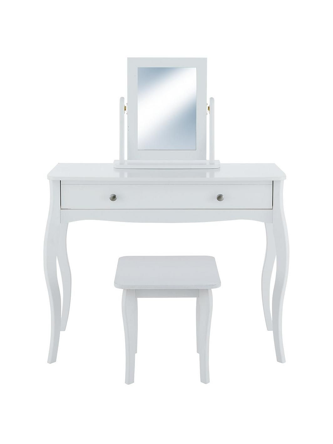 Dressing Table Chairs And Stools: Baroque Dressing Table, Stool And Mirror Set