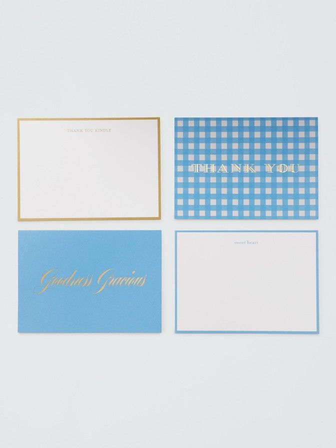 assorted thank you cards set of 12 draper james products