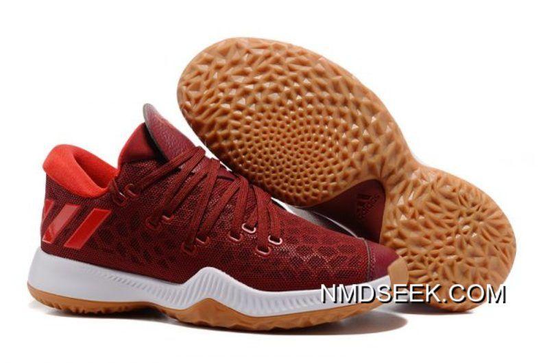 ef2d48f5c1c2 Adidas Harden Vol. 2 Wine Red Glare Men Sneakers Online Super Deals ...