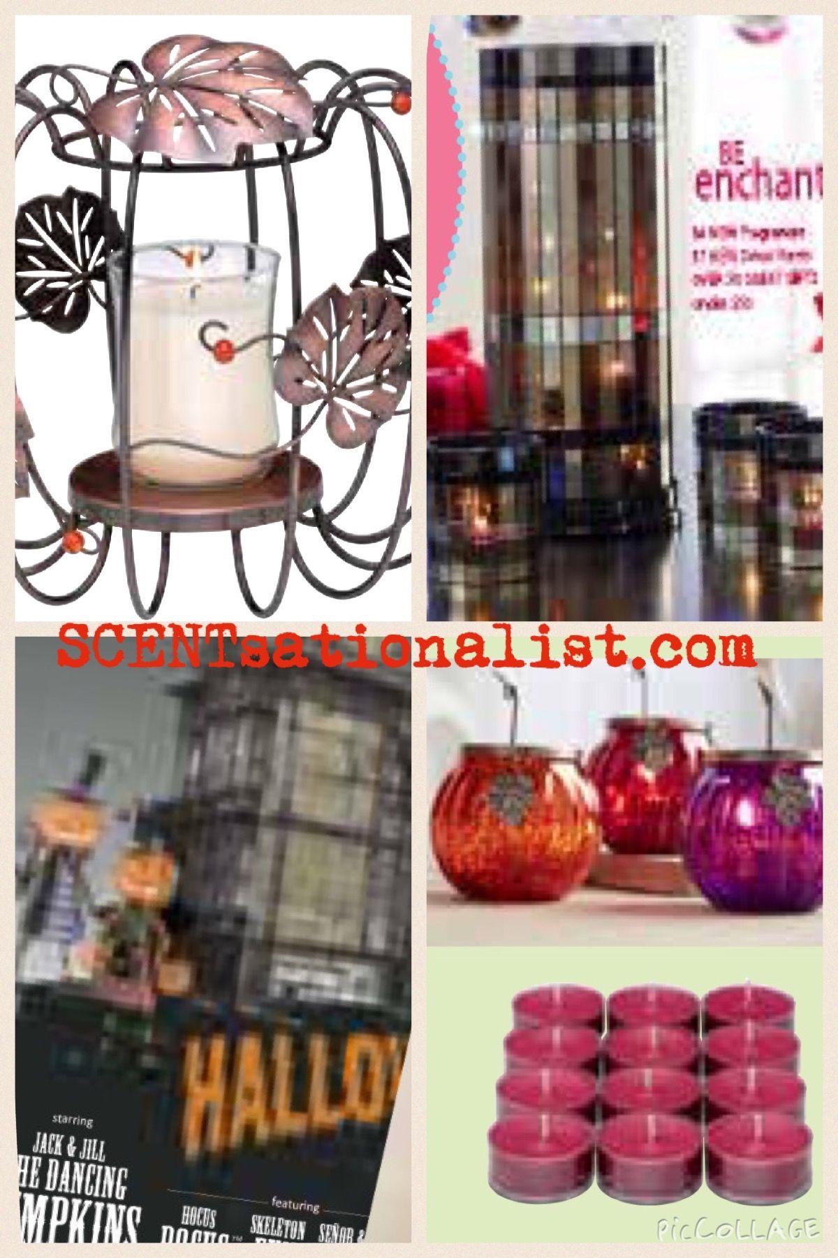 Partylite 2015 Pumpkin Patch Pillar Holder And Festive