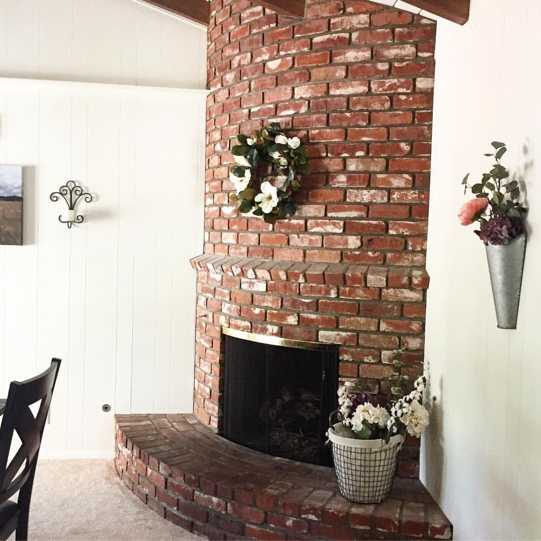 Farmhouse fireplace old brick (ocbarnfixer) on