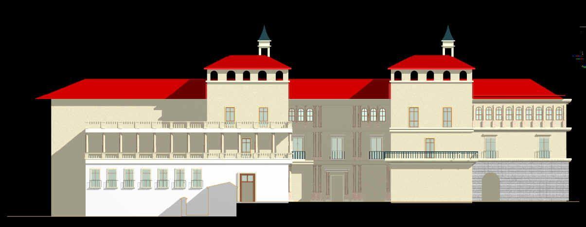 Reconstrucción virtual de la fachada Sur del Alcázar de Madrid en el siglo XVI
