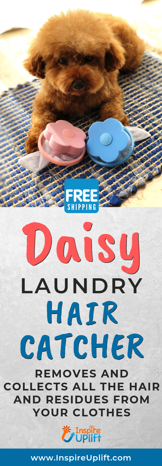 Daisy Laundry Hair Catcher Laundry Household Hacks Dog Hair