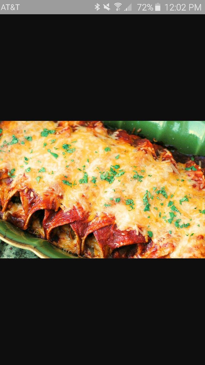 enchiladas de pollo habían originado de México. se remonta a los tiempos mayas cuando eran tortillas primer plato made.this se mencionó en el primer libro de cocina mexicana