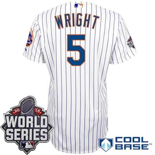 finest selection 13faa c089a New York Mets Authentic #5 David Wright Home White Pinstripe ...