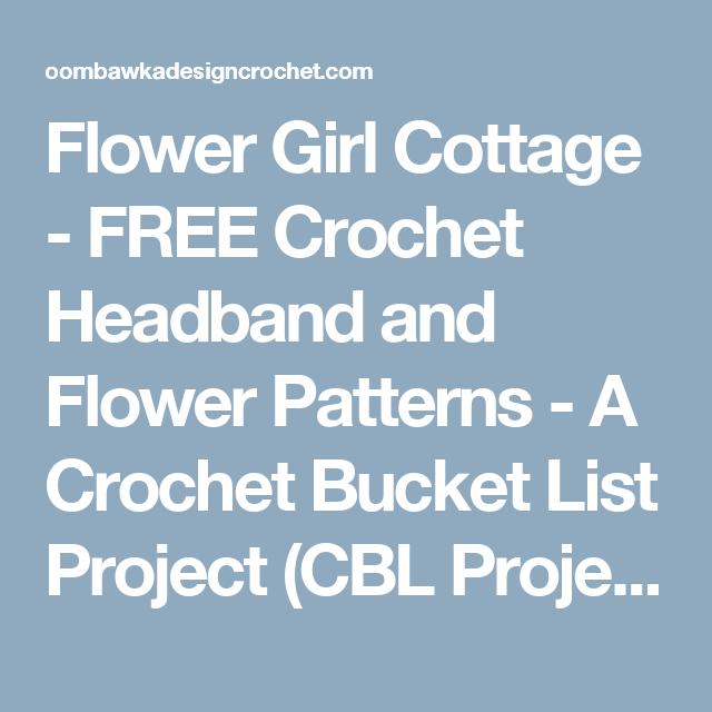 Crochet Headband and 5 Petal Daisy