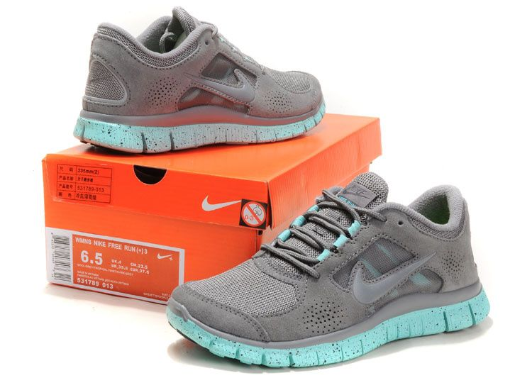 more photos a647b 17560 Womens Nike Free Runs 3 5.0 Anti-fur Cool Grey Tiffay Blue 531789 013