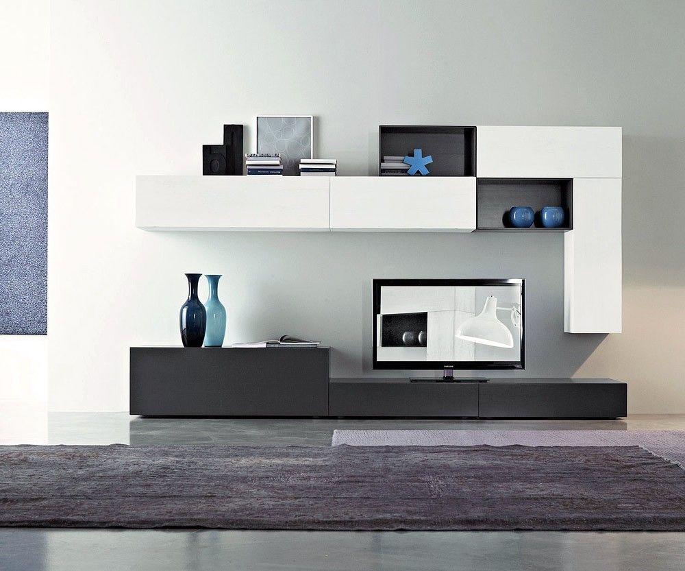 Modulares Para Living Tv Lcd Led Wall Unit Muebles Para Tv  # Muebles Rack Para Living