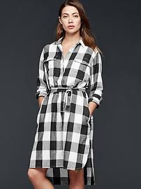 Checkered shirtdress