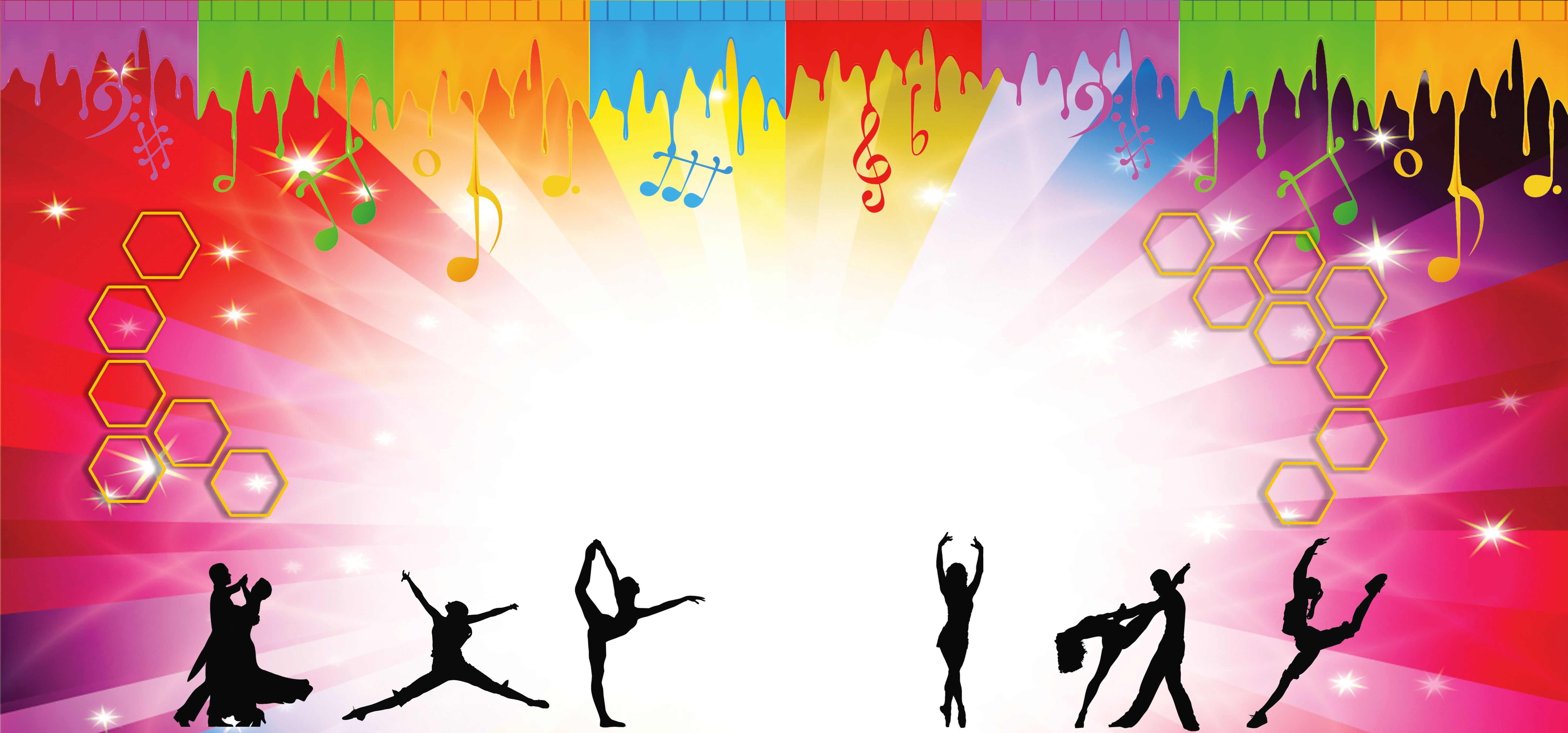 Flat Color Dancing People Background Poster Background Design Dance Background Dance Poster