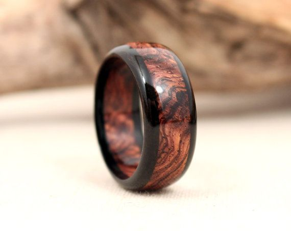 Gabon Ebony and Cocobolo w/or w/o sapwood Wooden by WedgewoodRings, $65.00