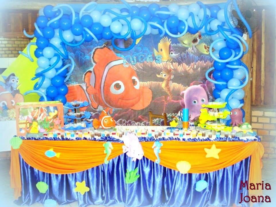 Decoração de salão - Tema Procurando Nemo