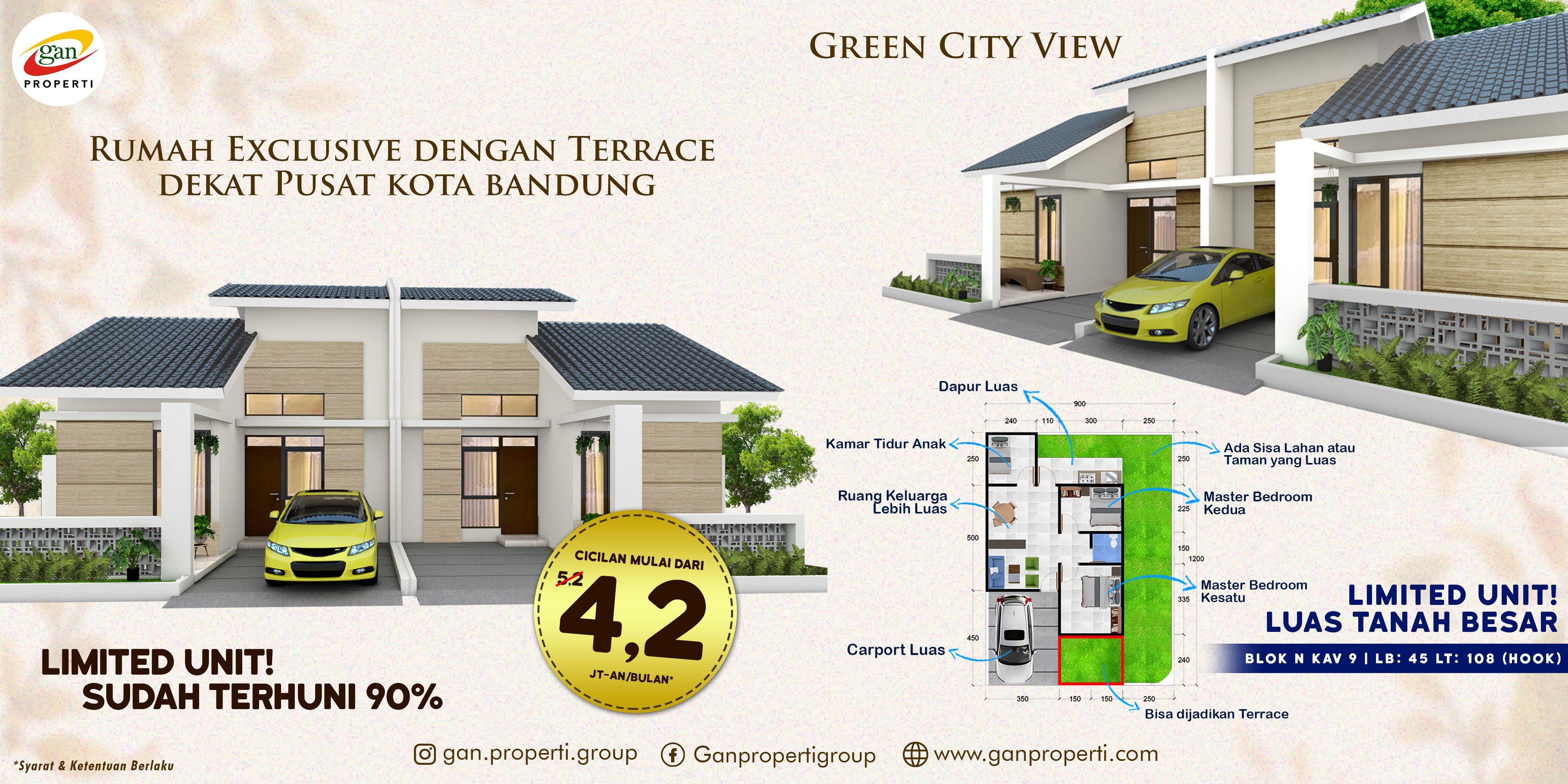 Jual Rumah Mewah Dekat Pusat Kota Bandung Cikadut Mandalajati Cicaheum Jatihandap Harga Terjangkau Kota Bandung Rumah Mewah Kota