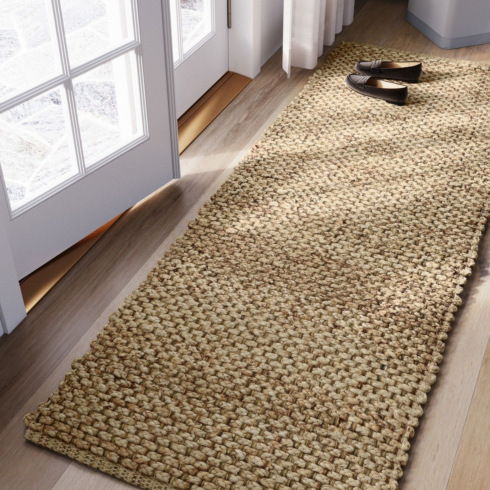 Woven Runner Rug Solid Natural Threshold Rugs Area Rugs Rug Runner