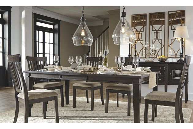 The Alexee Dining Room Extension Table And Chairs Make Room For Everyone To Gather Aroun Dining Room Table Modern Dining Room Set Contemporary Dining Room Sets