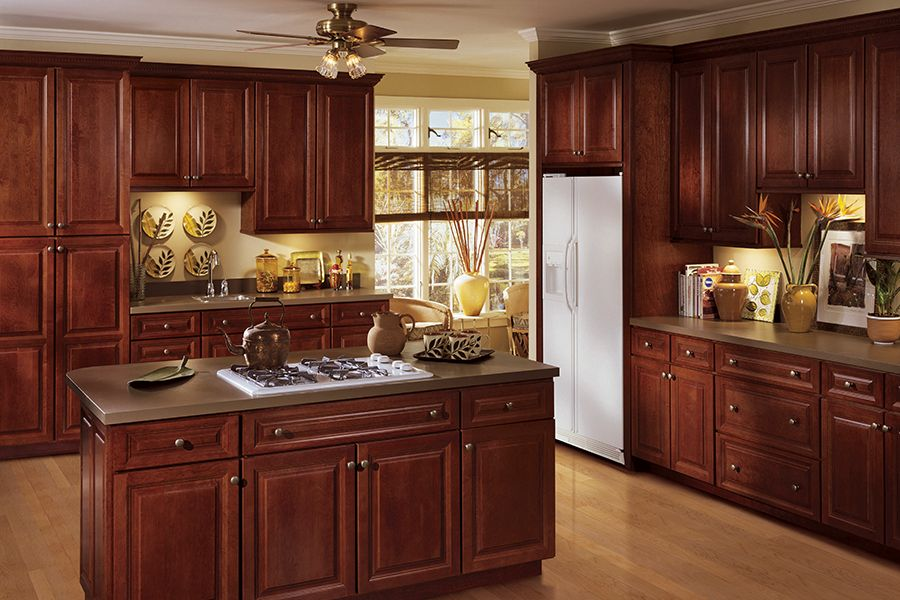 All Wood Cabinetry Classic Bordeaux Finish Solid Wood Cabinet Boxes And Face Frames Raised Panel Full Overlay Doors 5 Piece R Cabinet Home Kitchen Dinning Room