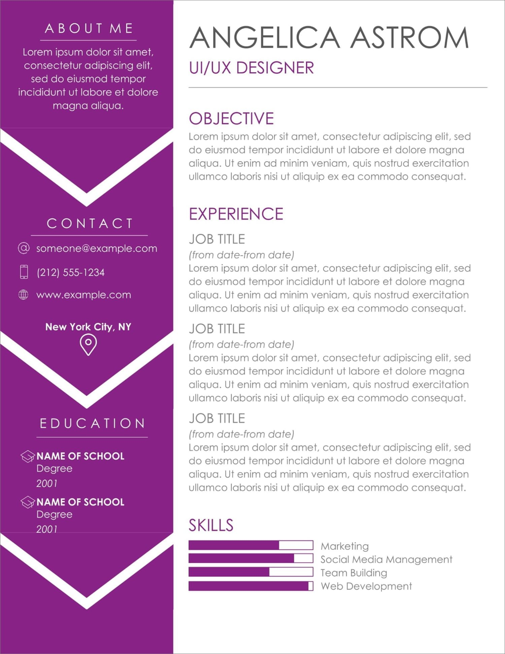 17+ Free Resume Templates [Download Now] in 2020 Free