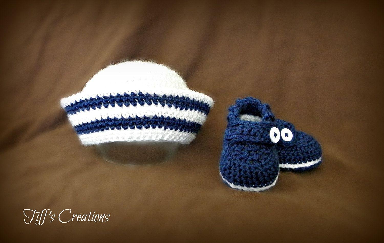 916068469e9 Free Crochet Baby Sailor Hat Pattern etsy com