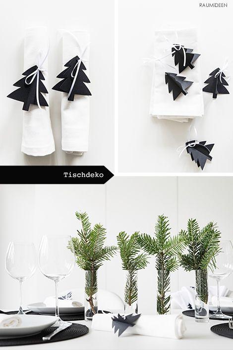 TISCHIDEE - weihnachtliche Tischdeko (mit Druckvorlagen) #ferientisch