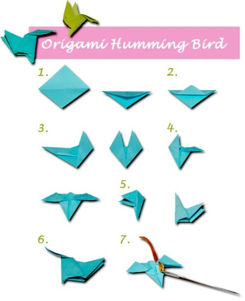 Origami Hummingbird Necklace | Craft Ideas | Pinterest ... - photo#18