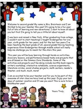 back to school welcome letter to students editable teacherspayteacherscom