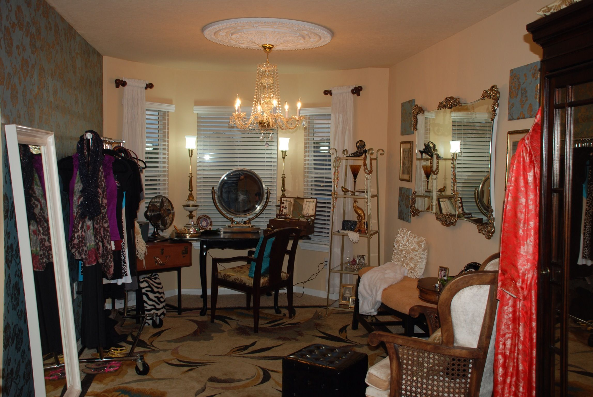 Hollywood Regency Dressing Room