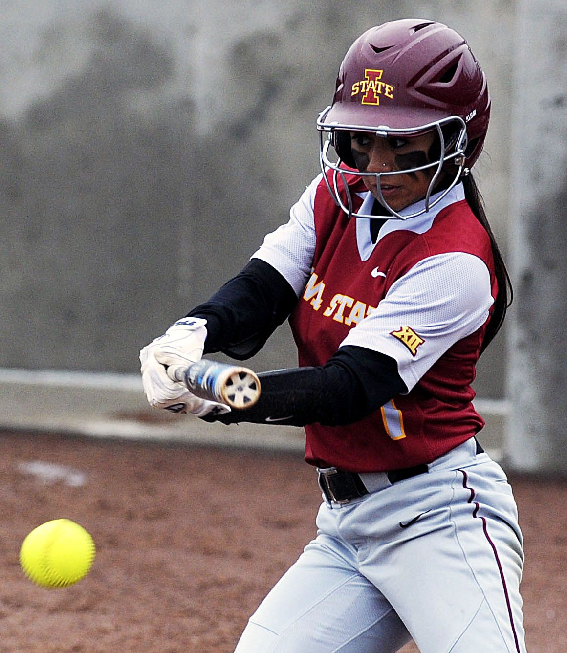 Iowa State S Brittany Gomez Hits A Single During Third Inning