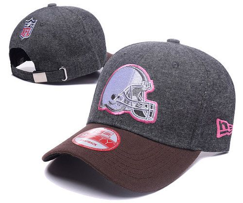 browns baseball caps charcoal gray pink curved brim hats cheap nfl wholesale logo