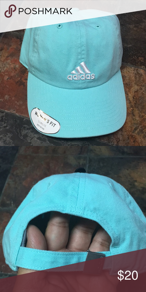 b3e37a997da ADIDAS Women s Saturday Hat New with tag! Adjustable Color  Energy Aqua  adidas Accessories Hats