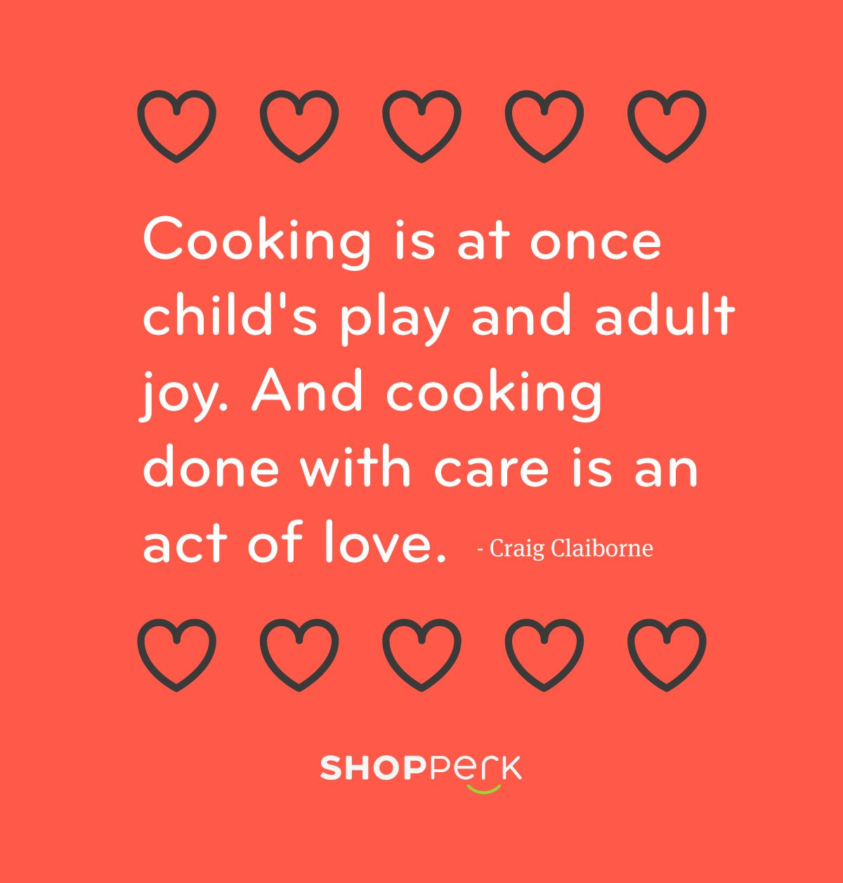 Cooking done with care is an act of love for Kitchen quotation
