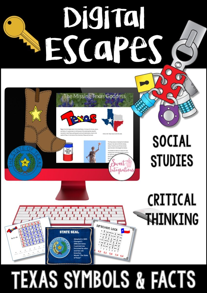 Digital Escape Room Texas Symbols And Facts Breakout Edu
