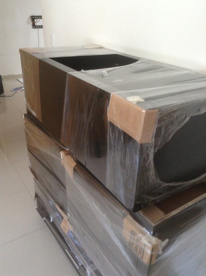 Cardboard and shrink wrap to protect furniture how to - Easy to move couch ...