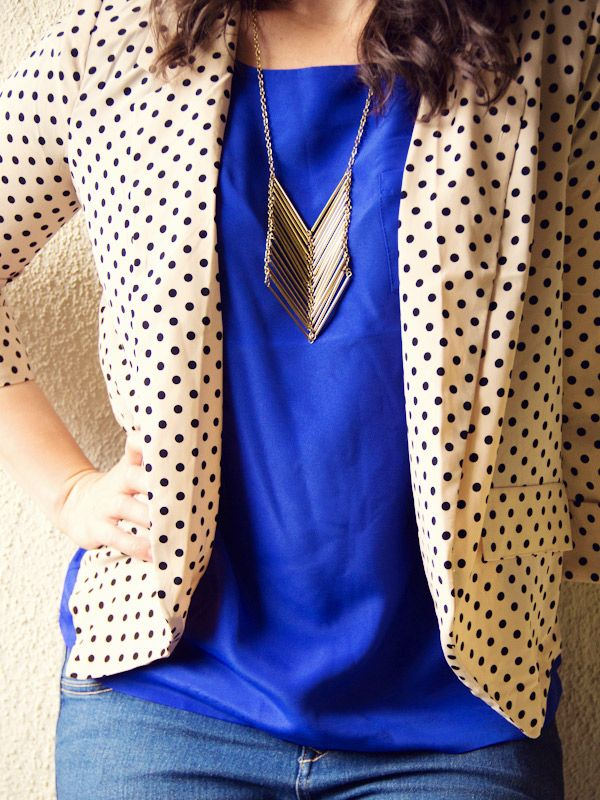 Dots & a Statement Necklace. | Lovely Indeed