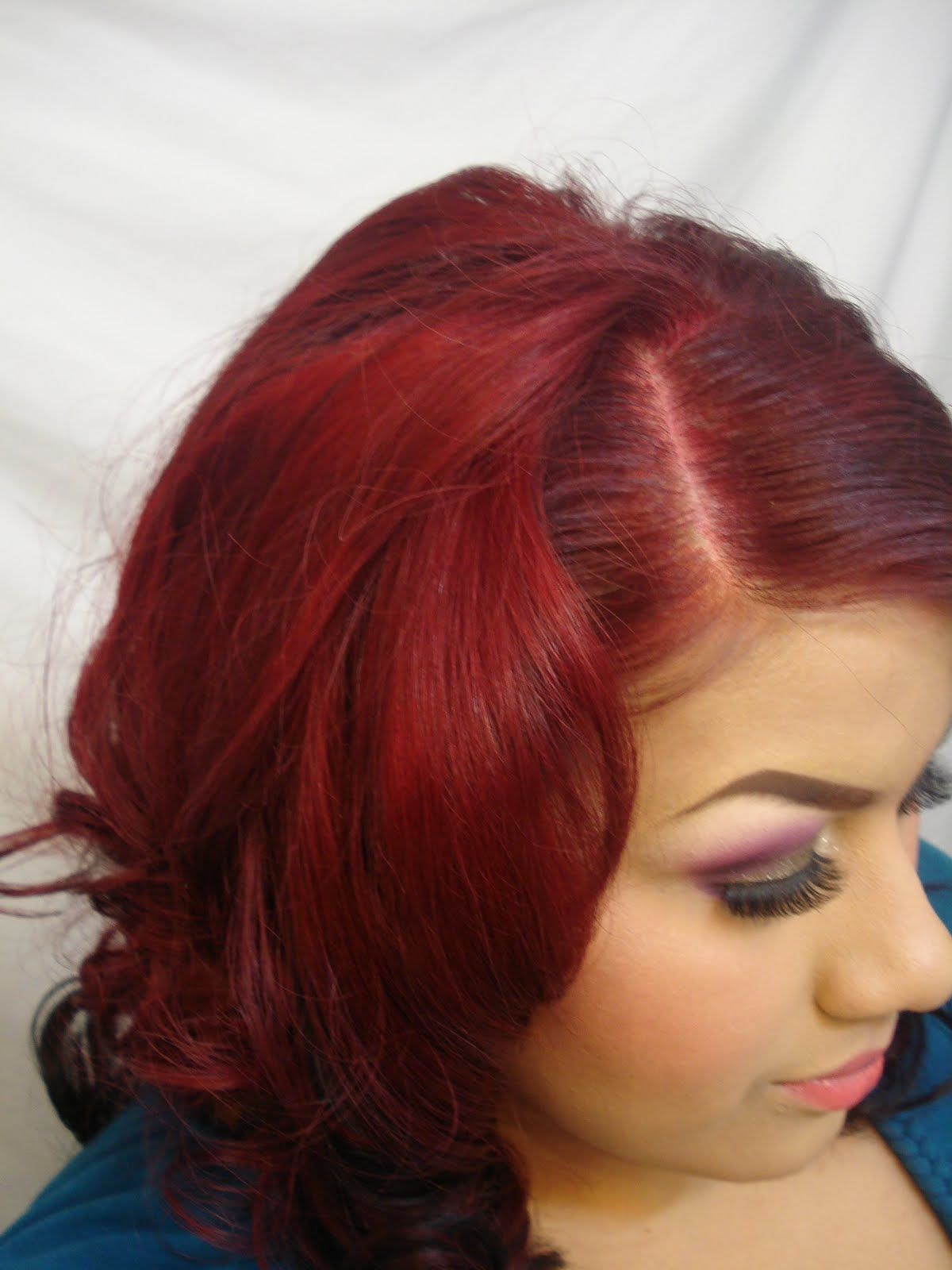 red henna hair dye on dark brown hair | more medium tone of red ...