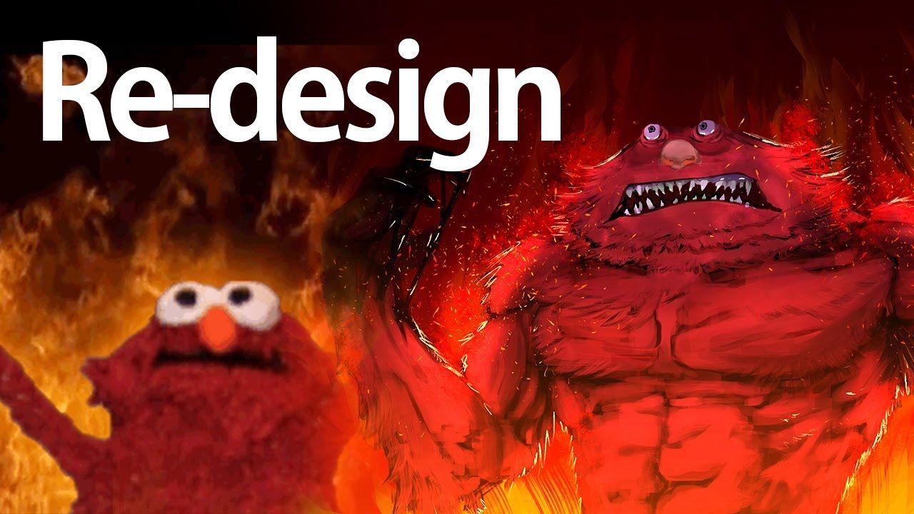 Burning Elmo Redesigned Speedpainting How Is Art