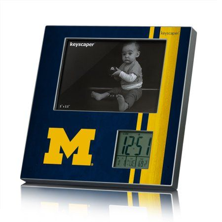 Michigan Wolverines Picture Frame And Desk Clock Ncaa