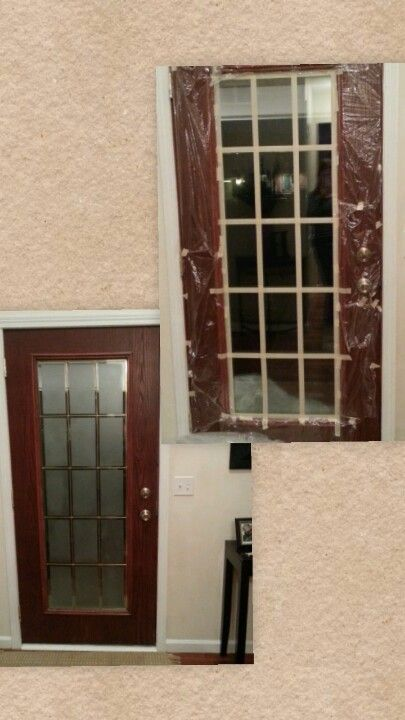 Our Front Door Glass Panel Frosted For Privacy So Easy And We