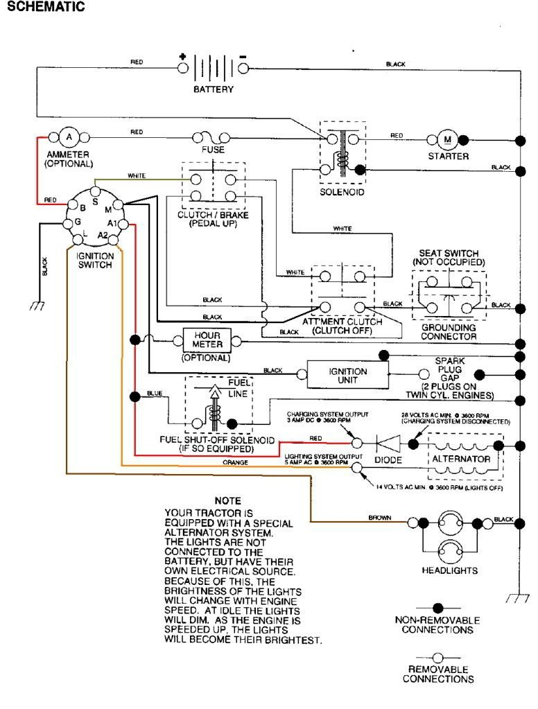 sears lt2000 wiring diagram