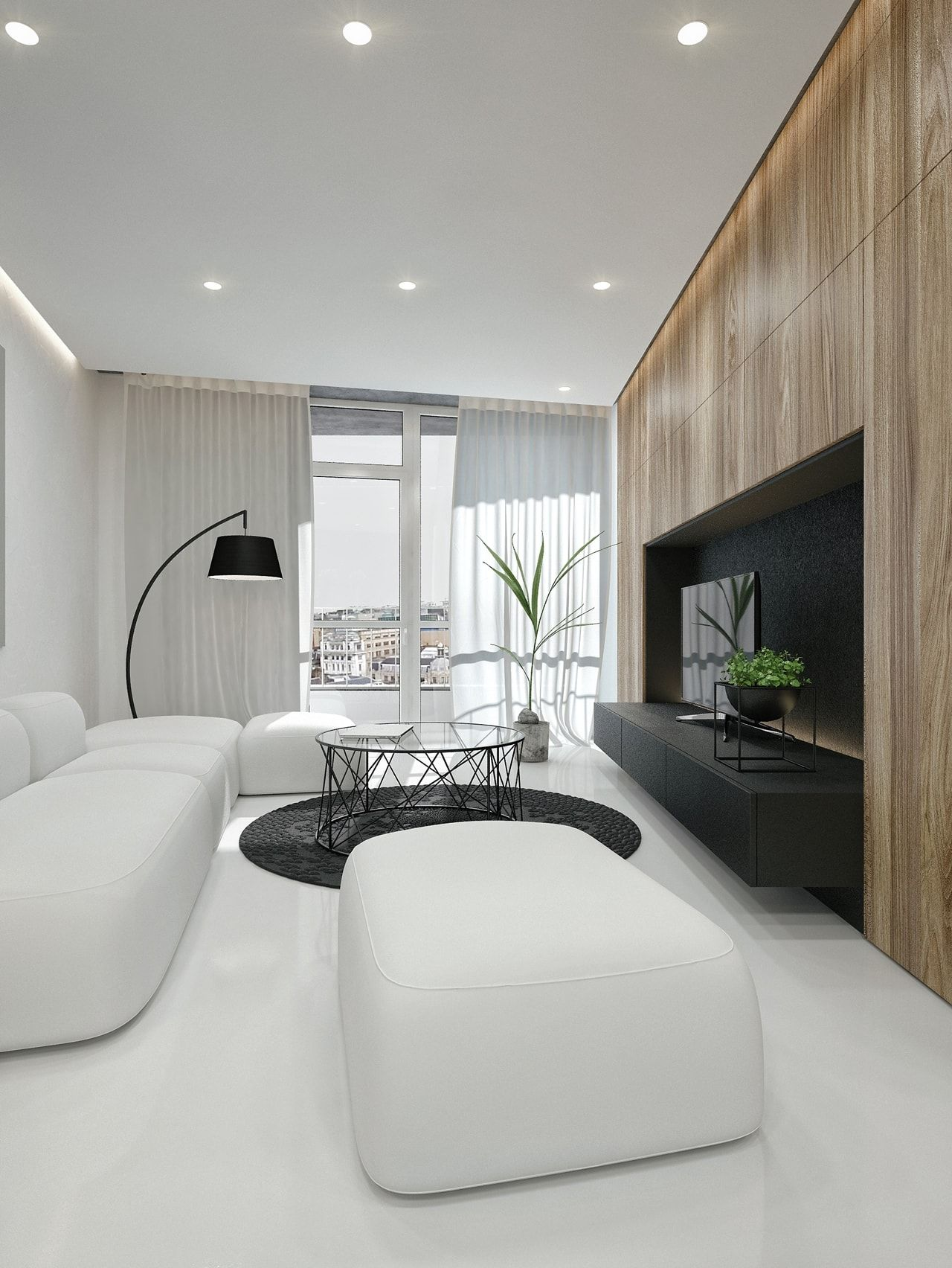 Black And White Interior Design Ideas By Id White