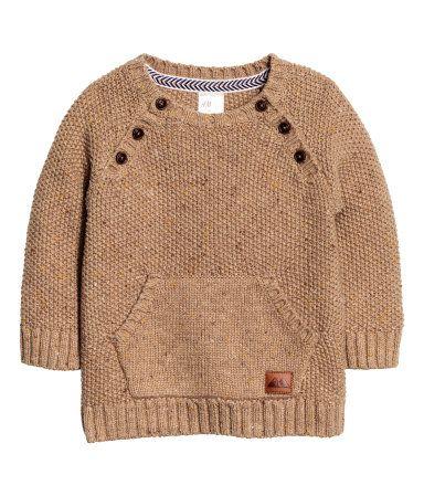 Knit Sweater   Light brown   Kids   H&M US   BOYS ///   Pinterest ...