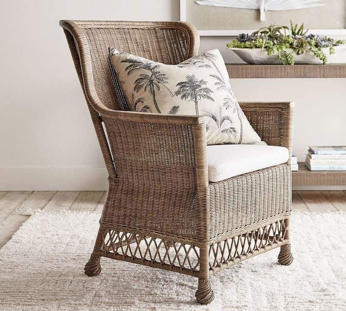 Irvine Rattan Accent Chair Accent Chairs Furniture
