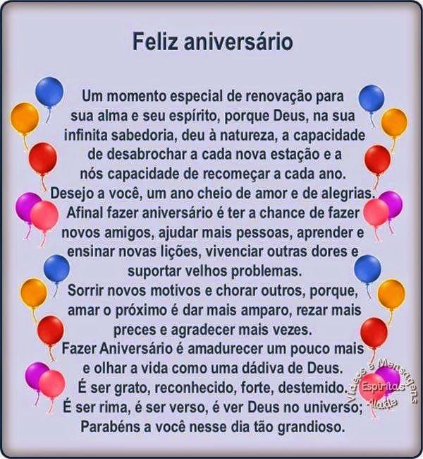 Mensagens Espiritas De Aniversario Images Aniversario Happy