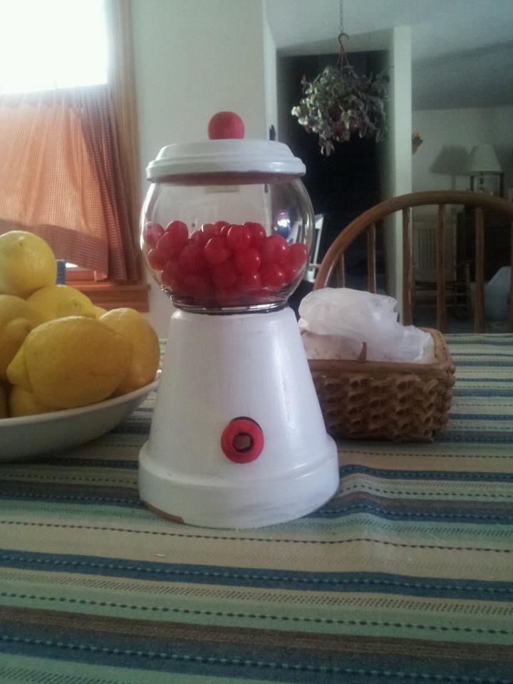 Gum ball machine made out of a pot things i 39 ve made - Mattress made of balls ...