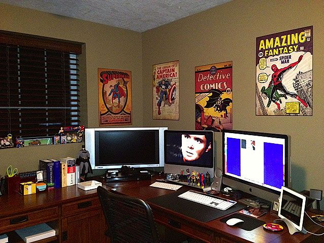 comic book office Google Search Office setup, Computer