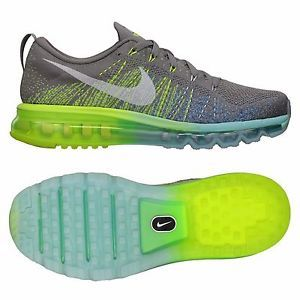 Nike Flyknit Air Max 620659 017 Glacier Ice Charcoal Volt