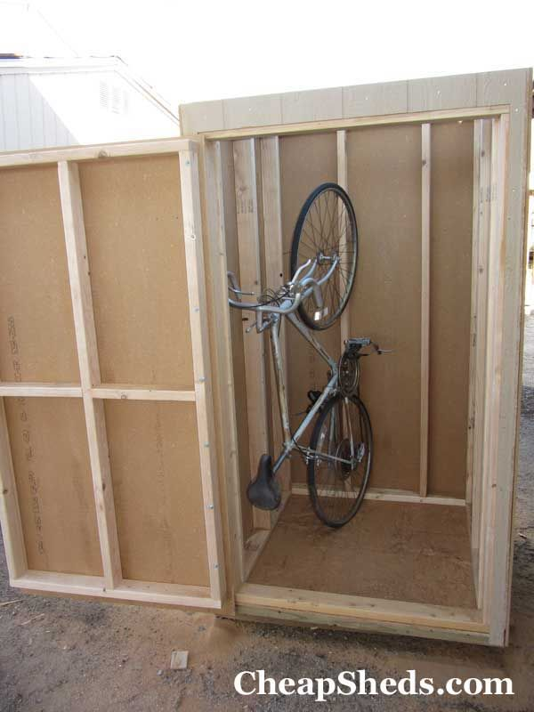 Build A Compact Bike Shed In 7 Steps Bicycle Storage Shed Bike Storage Bike Shed