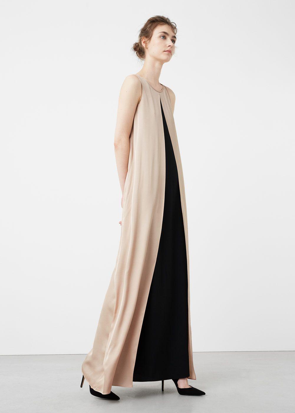 Double-layer gown - Woman  Mango Denmark  Kleider, Modestil